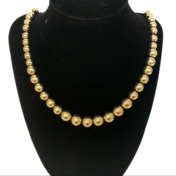 6db918abf44b1 Napier Vintage Gold Tone Beaded Long Necklace